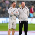 Fulham Chiropractor Dave Cosgrave (left) with club doctor Steve Lewis (right)